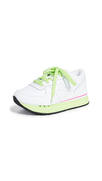 Fila Original Running Primavera Sneakers in green / fuchsia / white