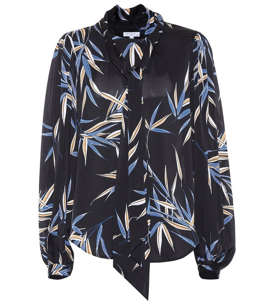Equipment Cleone printed blouse in black