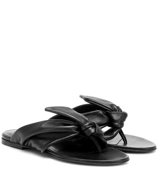 Jil Sander Knot leather sandals in black
