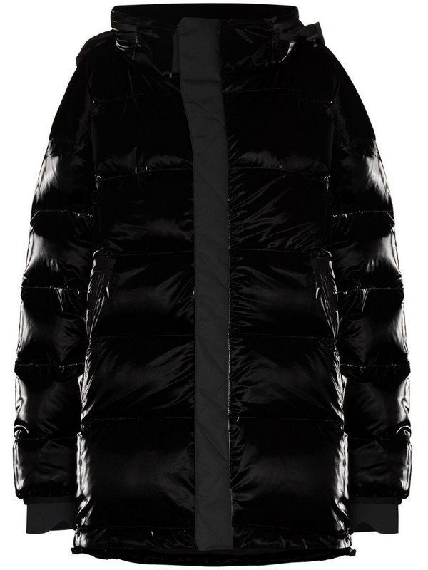 Templa Gloss zip-up puffer jacket in black