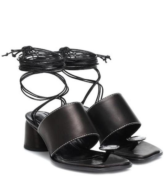Ellery Leather sandals in black