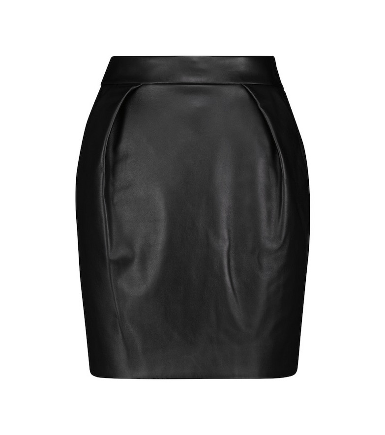 Alexandre Vauthier Leather miniskirt in black
