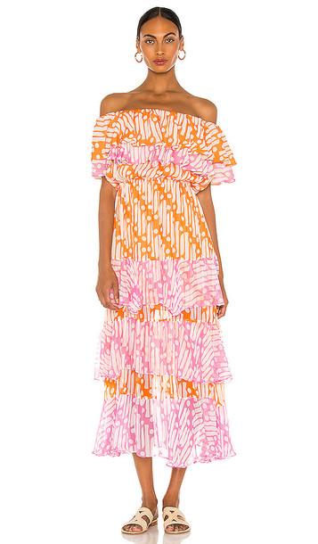 Rhode Ash Dress in Orange
