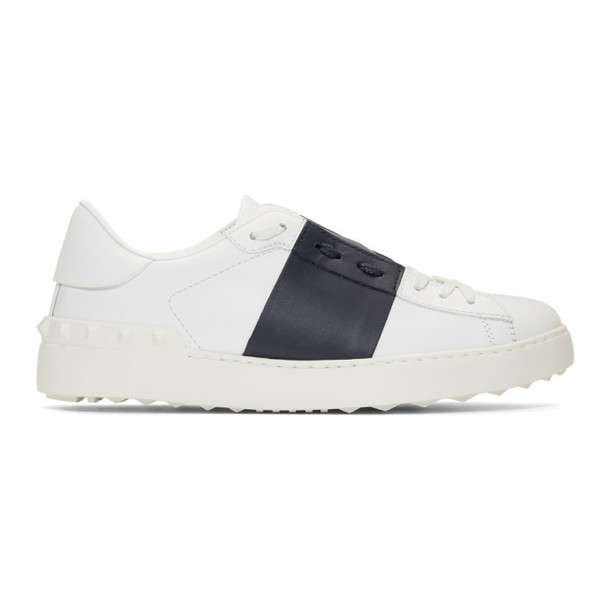 Valentino White & Blue Valentino Garavani Open Sneakers
