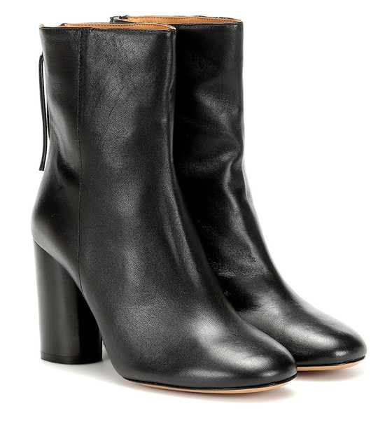 Isabel Marant Garett leather ankle boots in black