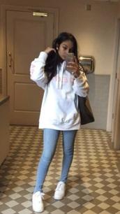 shirt,sweater dress,jumper,white,oversized