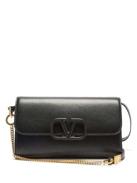 Valentino Garavani - V-sling Leather Shoulder Bag - Womens - Black