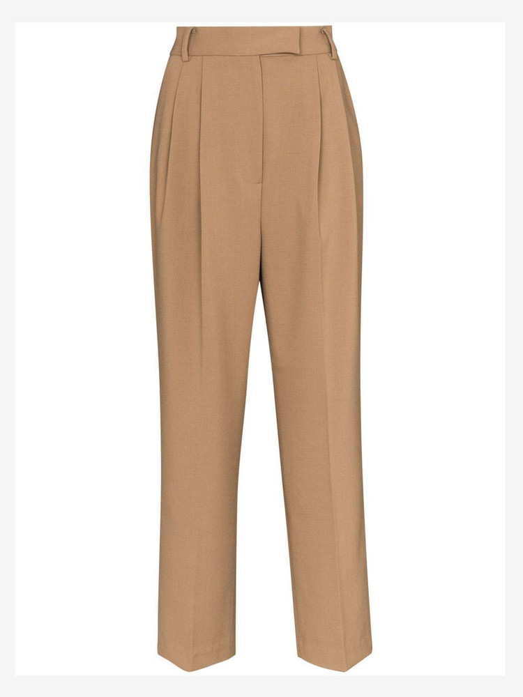 THE FRANKIE SHOP Bea pleated trousers in brown