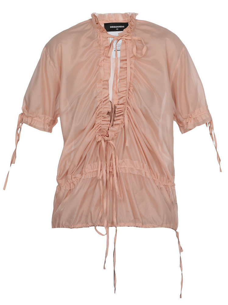 Dsquared2 Silk Blend Blouse in pink