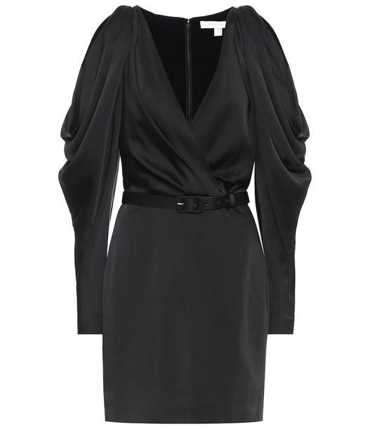 Jonathan Simkhai Satin minidress in black