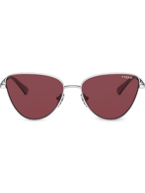 Vogue Eyewear two-tone cat-eye frame sunglasses in gold