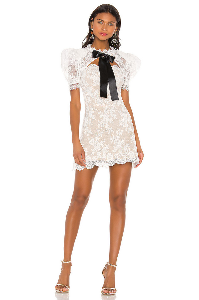 Bronx and Banco Valentina Bow Dress in white