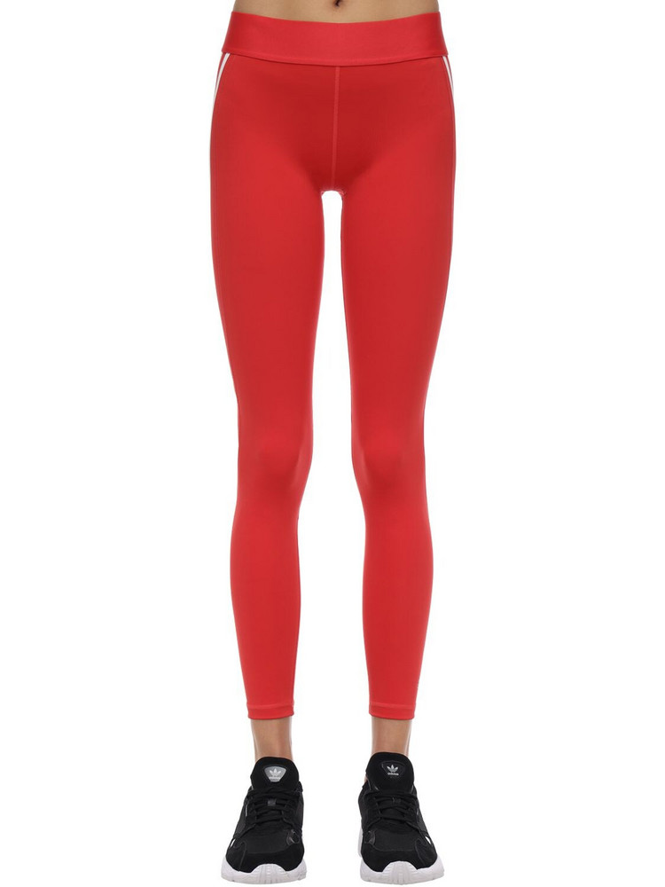 ADIDAS PERFORMANCE Alphaskin Sport 3 Stripes Leggings in red