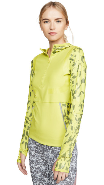 adidas by Stella McCartney Run Long Sleeve Pullover in green