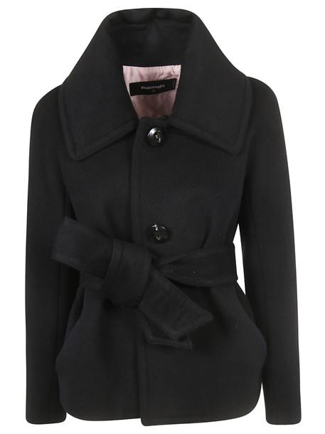 Dsquared2 Belted Jacket in black