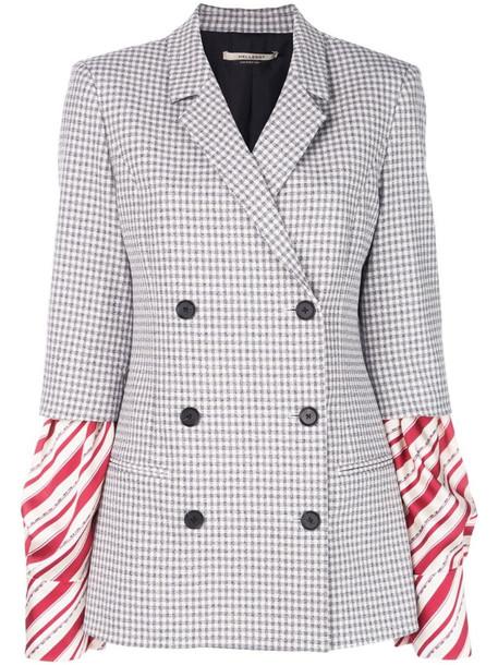 Hellessy striped sleeves jacket in blue