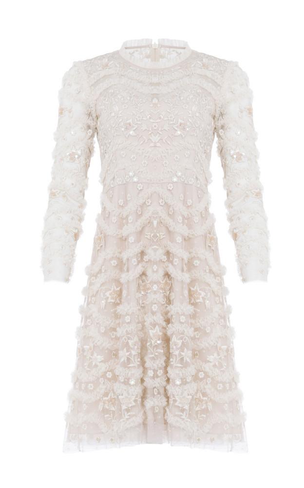 Needle & Thread Ruffle Bloom Dress in pink