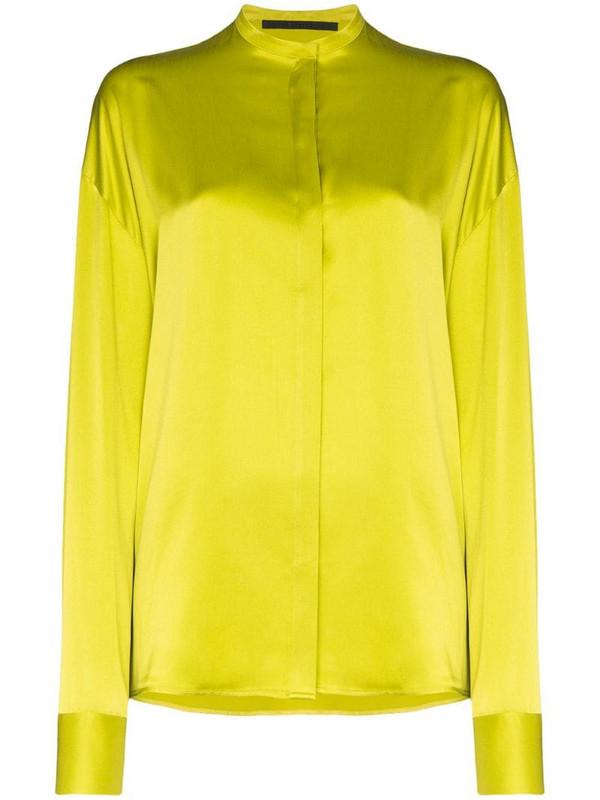 Haider Ackermann collarless shirt in yellow