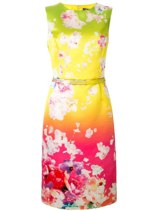 Ralph Lauren Collection Tuscon floral belted dress in pink
