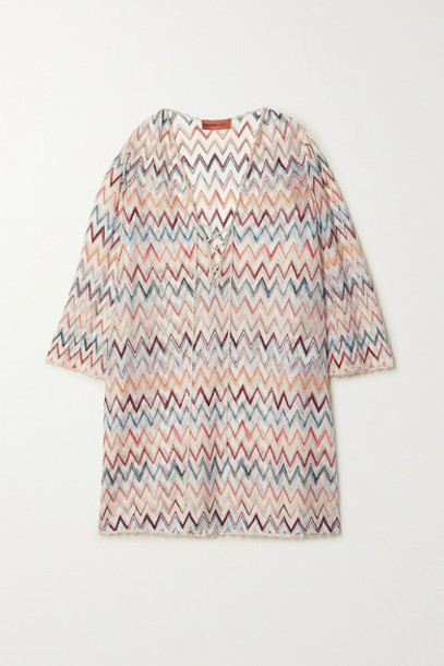 Missoni - Lace-up Metallic Crochet-knit Kaftan - White