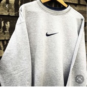 sweater,nike retro jacket grey