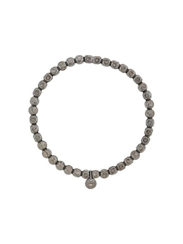Tateossian expandable cube beaded bracelet in silver