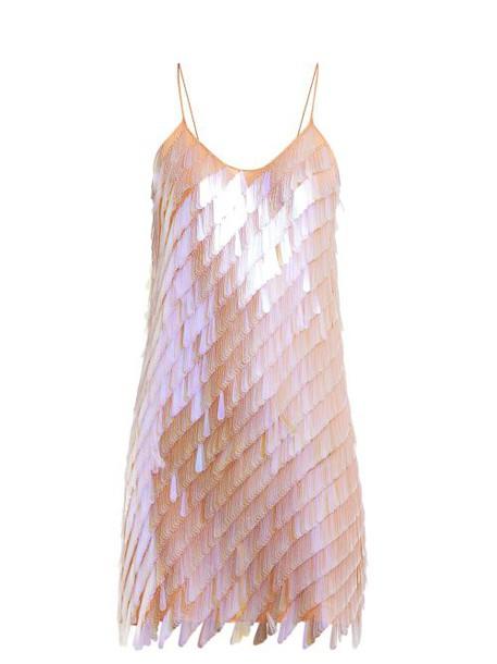 Ashish - Teardrop Sequinned Mini Dress - Womens - Beige