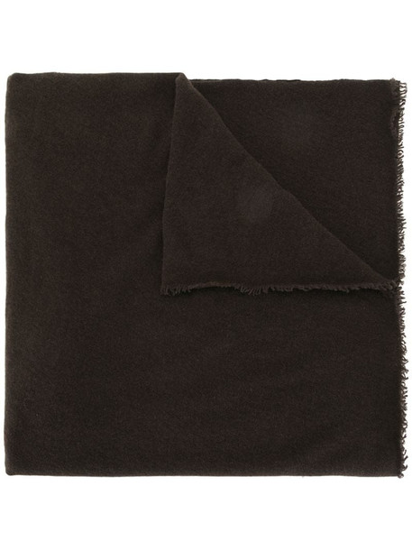 Faliero Sarti oversized frayed scarf in brown