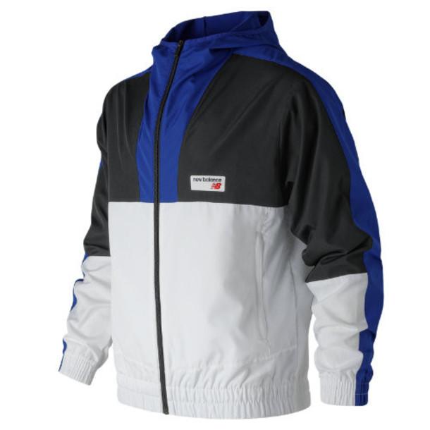 New Balance 91506 Men's NB Athletics Windbreaker - Blue/Black/White (MJ91506TRY)