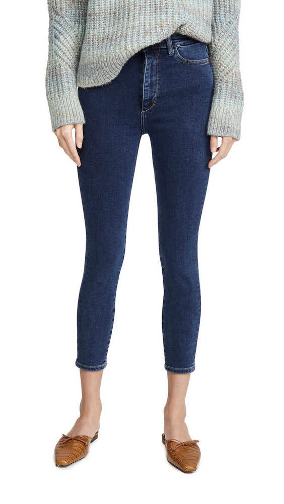 DL DL1961 Chrissy Cropped Ultra High Rise Skinny Jeans