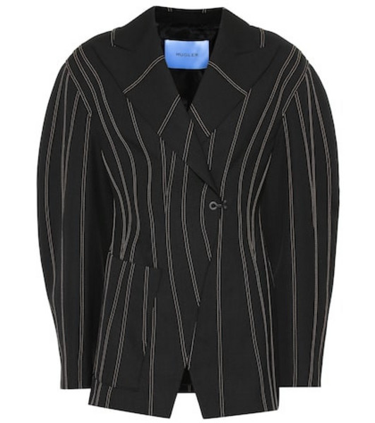 Mugler Oversized wool blazer in black