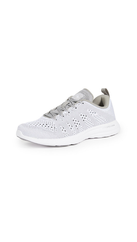APL: Athletic Propulsion Labs TechLoom Pro Sneakers in metallic / silver / white