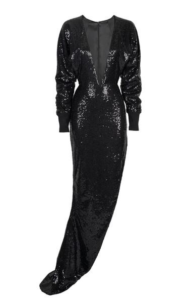 Lama Jouni Sequin Dress Size: M in black