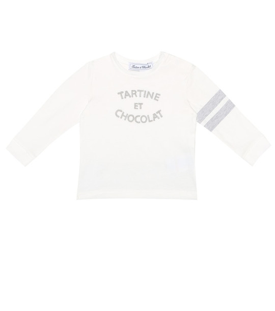 Tartine et Chocolat Baby embroidered cotton top in white