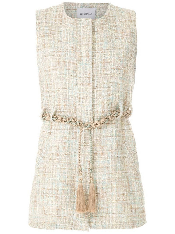 Olympiah knitted rope belted top in neutrals