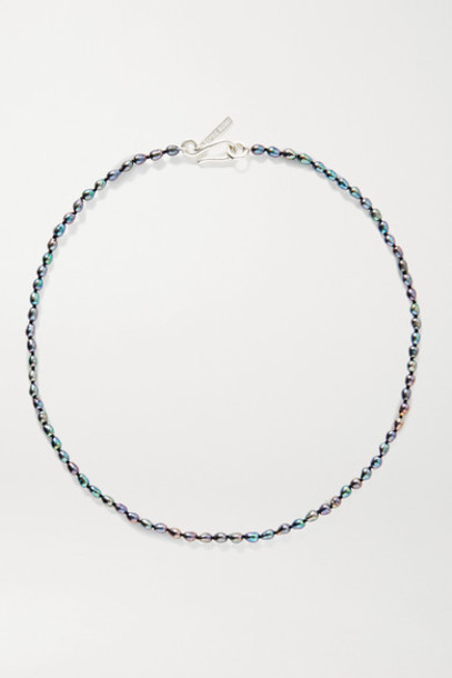 Sophie Buhai - Pearl And Silver Necklace - Blue