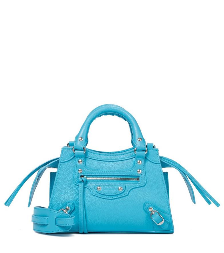Balenciaga Neo Classic Mini leather tote in blue