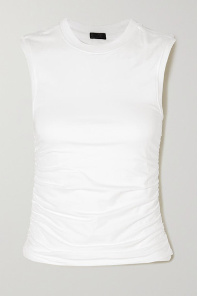 ATM Anthony Thomas Melillo - Ruched Stretch-pima Cotton Jersey Tank - White