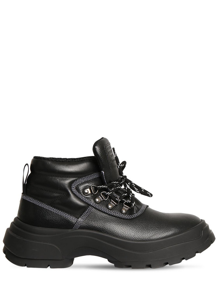 MAISON MARGIELA 50mm Leather Hiking Boots in black