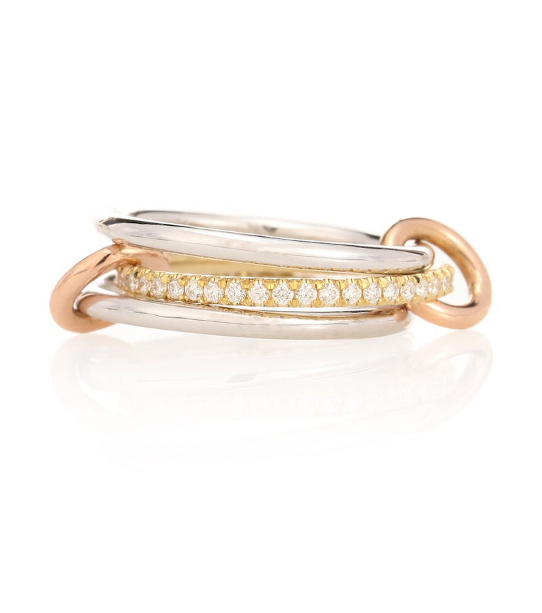 Spinelli Kilcollin Sonny MX 18kt white, yellow and rose gold diamond ring