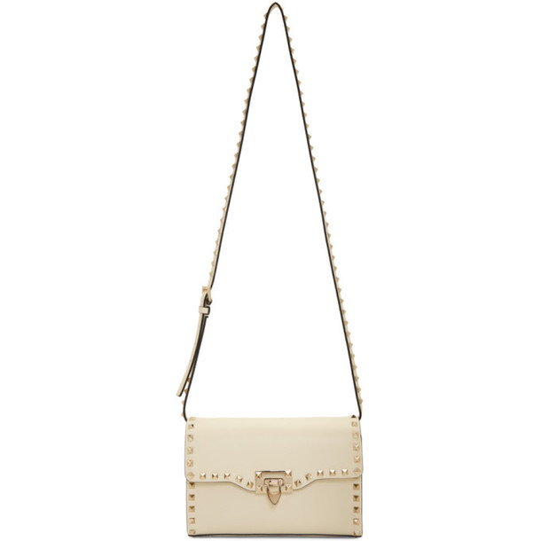 Valentino Ivory Valentino Garavani Medium Rockstud Flap Bag