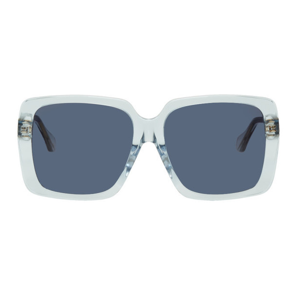 Gucci Blue Square Sunglasses