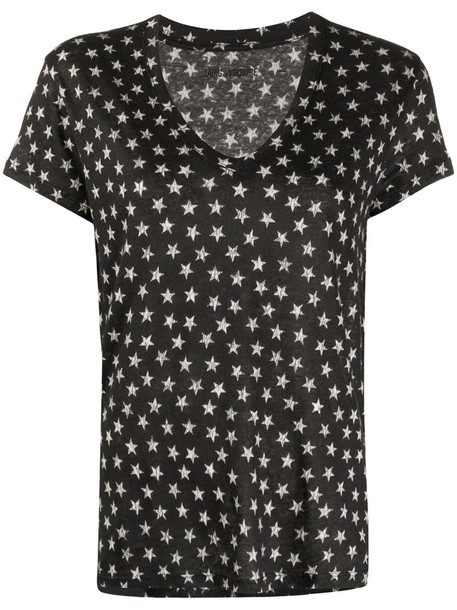 Zadig&Voltaire Archie Nova Stars v-neck T-shirt in black
