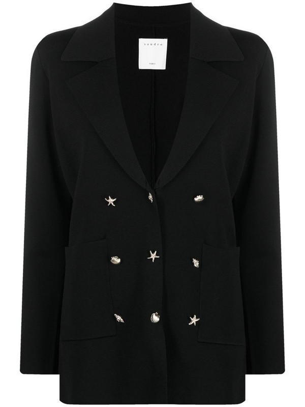 Sandro Paris Jocelyne blazer jacket in black