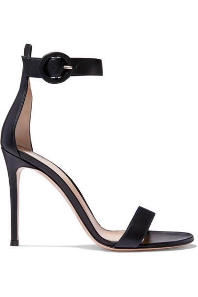 Gianvito Rossi - Portofino 105 Leather Sandals - Navy