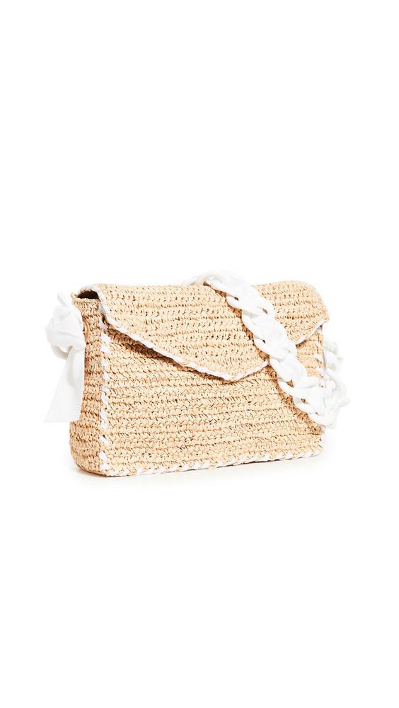 PAMELA MUNSON Las Olas Shoulder Bag in white