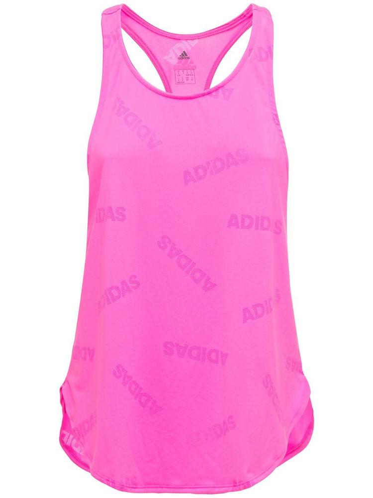 ADIDAS PERFORMANCE Adi Jaqrd Tank Top in pink / fuchsia