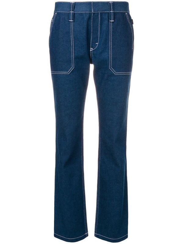 Chloé contrast stitch jeans in blue