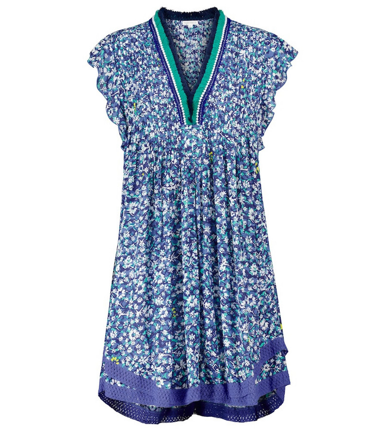 Poupette St Barth Exclusive to Mytheresa – Sasha floral minidress in blue