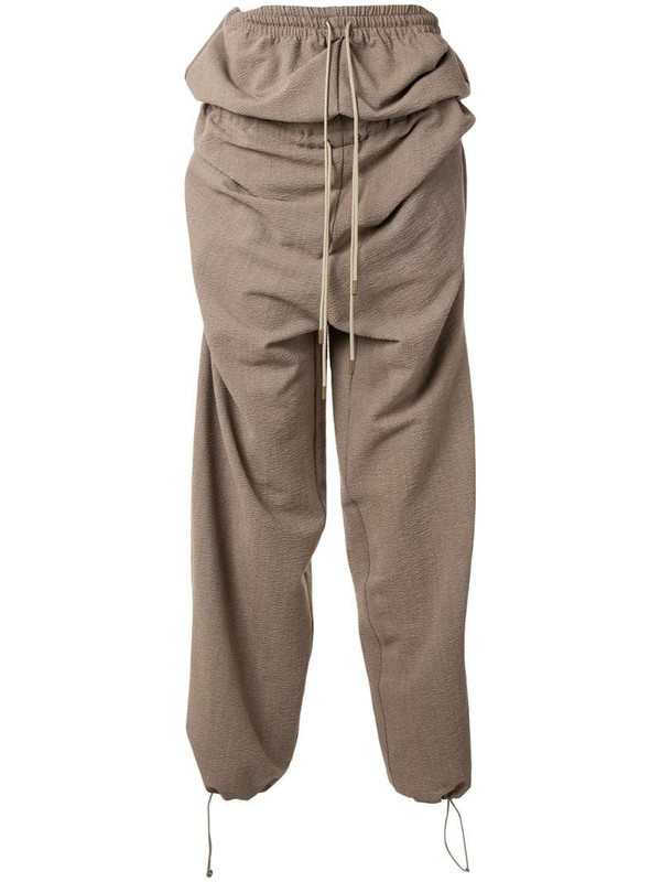 Y/Project double waist track pants in brown